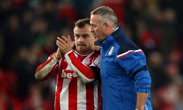 Stoke rrezikon rënien nga Premierliga, befason trajneri i Shaqirit