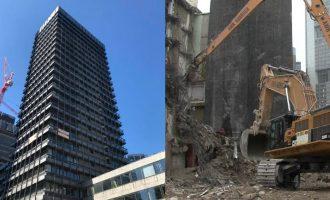 Kompania kosovare në Gjermani kontraktohet për shembjen e objektit 96m të lartë