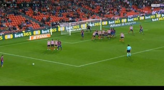 Enis Bardhi shënon dy gola brenda tre minutave nga gjuajtja e lirë