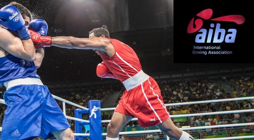 boxing aiba with logo insajderi