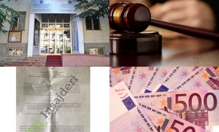 Përmbaruesi ia merr 157 mijë euro Ministrisë së Kulturës – dyshohet se zyrtarët e bënë me qëllim