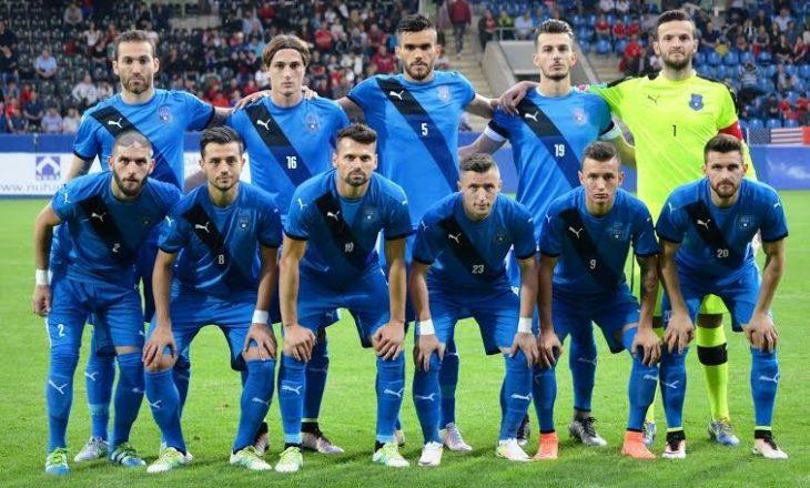 Lojtarët e Përfaqësueses së Kosovës me dedikim të veçantë për Vokrrin