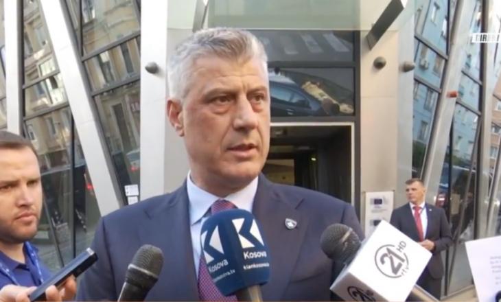 Reagimi i Thaçit pas takimit me Vuçiqin në Sofje