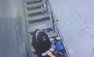 Kamerat e sigurisë kanë xhiruar një vrasje të tmerrshme