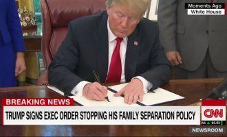 Presidenti Trump nënshkruan urdhrin ekzekutiv për mbajtjen e familjeve së bashku