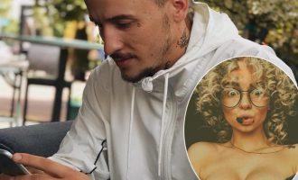 Reperi shqiptar krenohet me vajzën ruse që bëri tatuazh emrin e tij