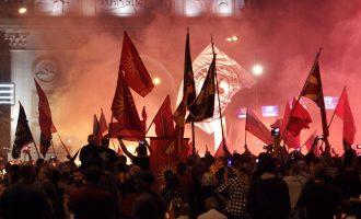 Plagosen 7 policë gjatë protestave në Maqedoni