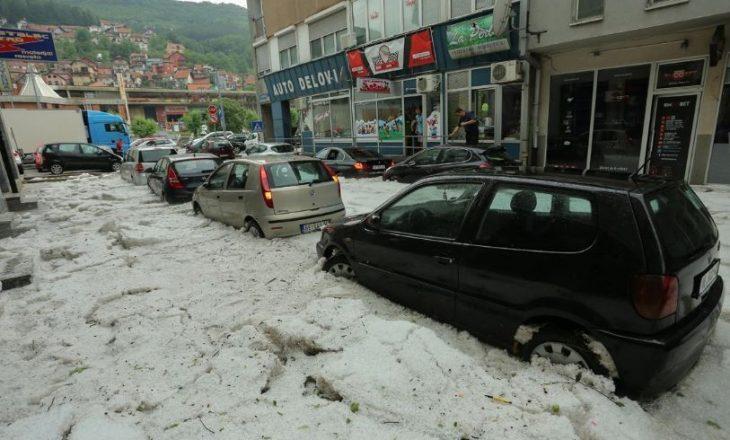 Breshër e përmbytje në Serbi