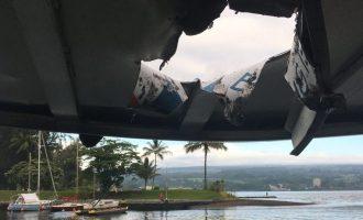 """Një """"bombë"""" nga lava e vullkanit e ka goditur një anije afër Havait"""
