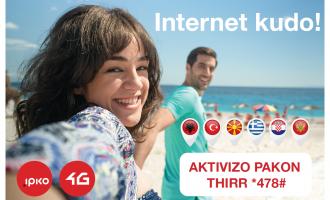Një pako e vetme e internetit në telefon, për pushimet verore!