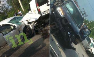 Pamje nga aksidenti ku humbi jetën një grua dhe dy të tjera janë në gjendje të rëndë