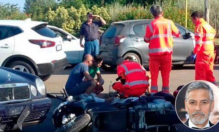 Publikohen pamjet nga aksidenti i George Clooney