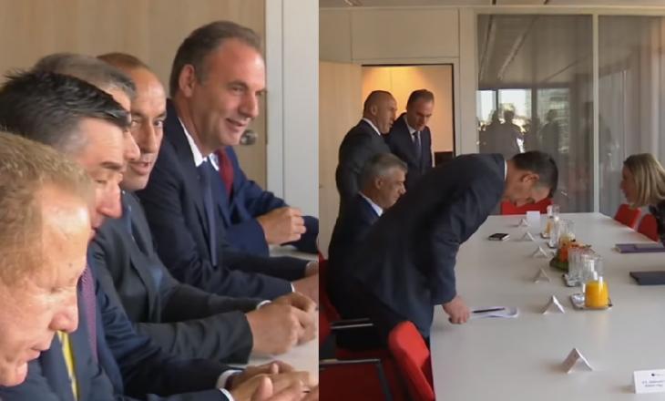 Hajde baco hajde  dhe  hajde family    komunikimi i delegacionit kosovar në prani të Mogherinit