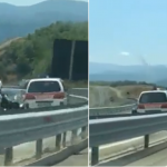 """Ambulanca dhe Policia vozisin në anën e kundërt në """"Rrugën e Kombit"""""""