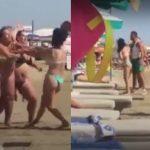 Rrahje mes grave në plazhin e Durrësit