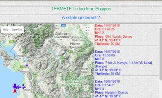 Tjetër tërmet ndodhi gjatë natës në Gjirin e Lalzit