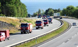 Zjarre të mëdha në malet e Suedisë
