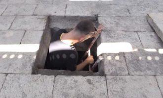 Hapet kapaku mister në vendvarrimin e Skënderbeut në Lezhë (VIDEO)
