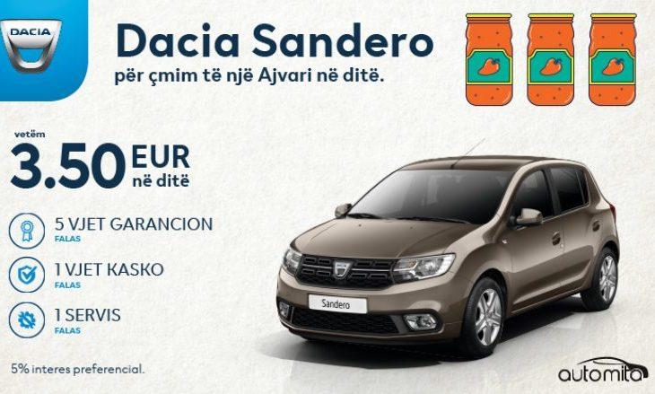 Paguaje sa një ajvar në ditë   udhëto me Dacia Sanderon e ri