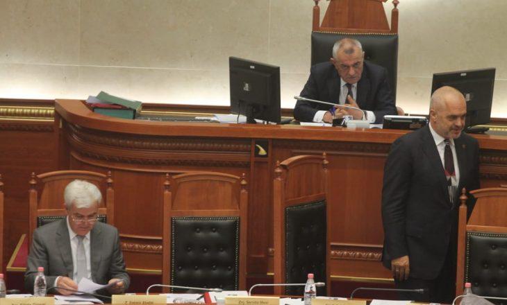 Kuvendi miraton dekretin e presidentit për  Teatrin   opozita e bojkotoi seancën