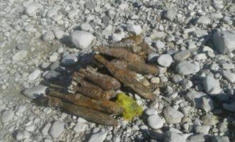 Gjilanasi gjen arsenal granatash të pashpërthyera në mal