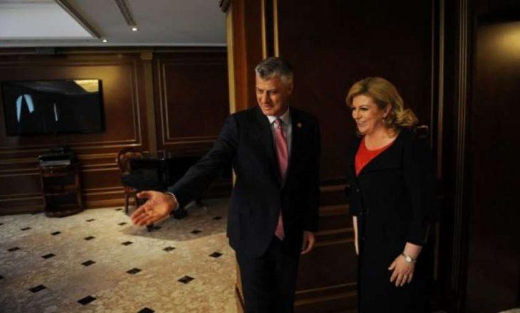 Presidentja kroate ia kujton Thaçit parimin e Badinterit për kufijtë