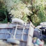 Rrokulliset rimorkio, vdes një person në veri