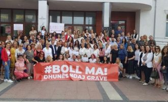 Protestë në Gjilan kundër dhunës ndaj grave
