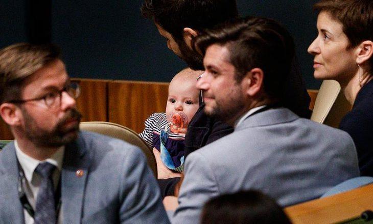 Kryeministrja që shkoi në selinë e OKB së me foshnjën tre muajsh